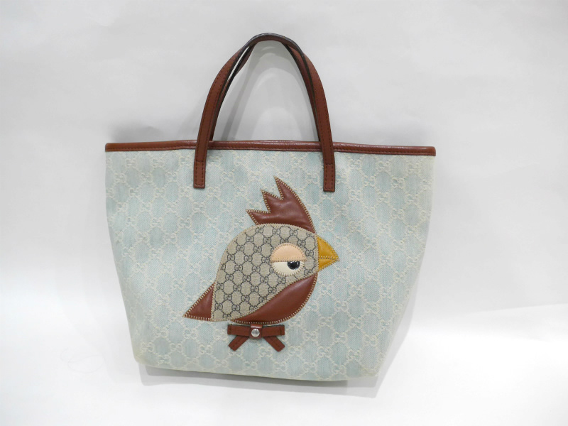 gucci used. ◇[USED] ◇Gucci /gucci: ZOO Zoo Kids KIDS Tote Bag Bird Gucci Used