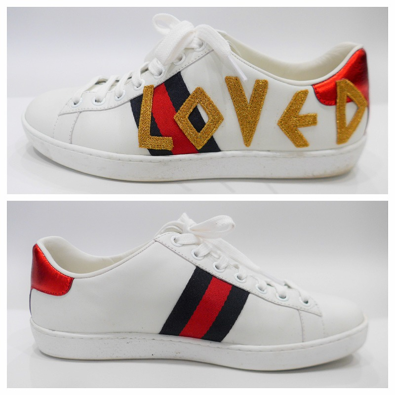 6301079641a ◇ USED  ◇  Gucci  GUCCI  LOVED sneakers Lady s (37) with 2018 Cruise  ace   embroidery◇