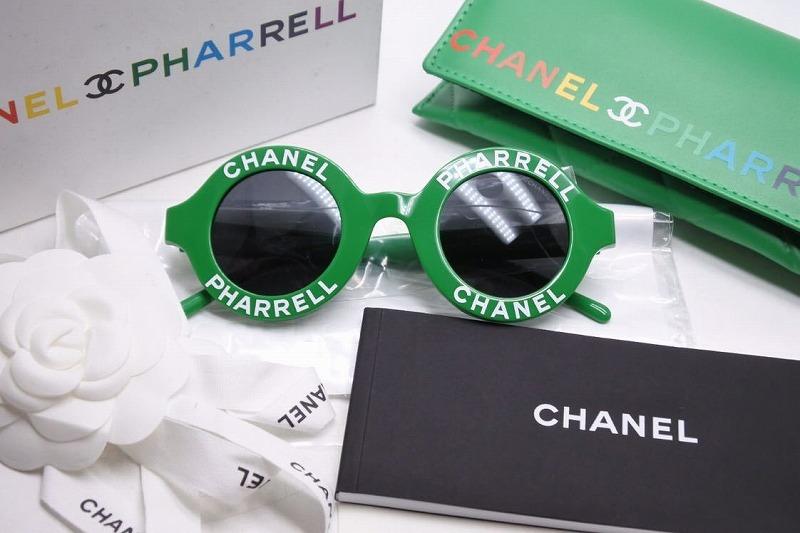 Salvatore 日本限定 CHANEL×シャネル×サングラスPHARRELL×ファレル×カプセルコレクション×round sunglasses USED 中古 送料無料 CHANEL PHARRELL シャネル グリーン カプセルコレクション 売買 19ss round ファレル サングラス 新品未使用