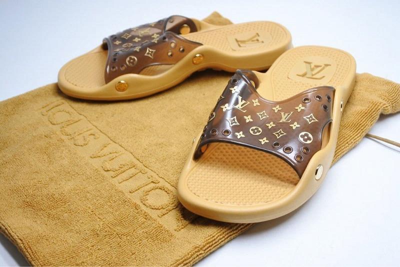 ◆[USED/中古]◆送料無料◆Louis Vuitton ルイヴィトン:サンダル ビーチサンダル 38 レディース 未使用 保存袋付き 激レア 6906 ◆ 【中古】