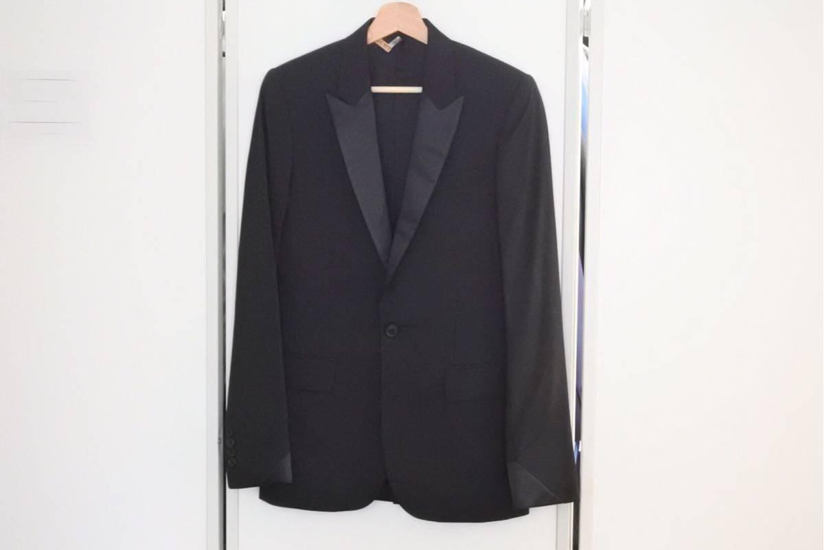 ◆[USED/中古]◆送料無料◆DIOR ディオール スモーキングジャケット ジレ 08年 エディ期 44 メンズ ブラック 希少 中古◆ 【中古】
