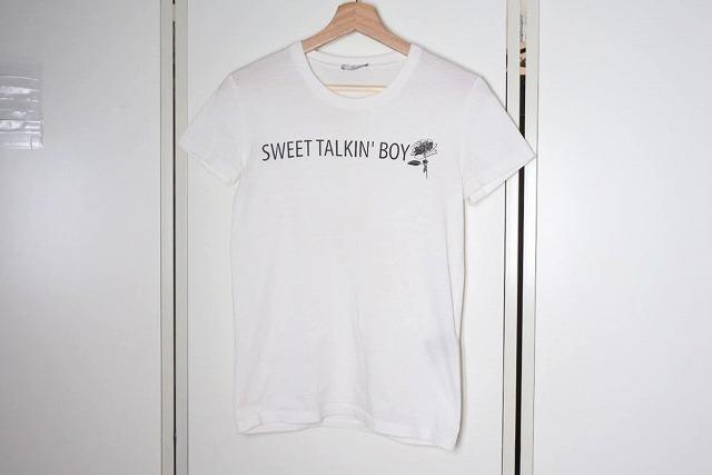 ◆[USED/中古]◆送料無料◆【中古】Dior HOMME ディオールオム メンズ Tシャツ XXS SWEET TALKIN BOY フラワー クリスヴァンアッシュ期 中古 12417【中古】