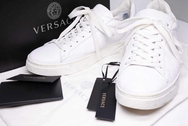 ◆[USED/中古]◆送料無料◆【中古】VERSACE ヴェルサーチ スニーカー 靴 ホワイト レザー 43 19SS 箱付き 中古 15025【中古】