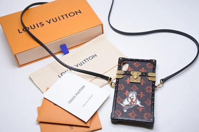 ◆[USED/中古]◆送料無料◆【美品】Louis Vuitton ルイヴィトン キャットグラム 携帯ケース IPHONE X XS アイトランク ショルダーバッグ M63891 美品 15342【中古】