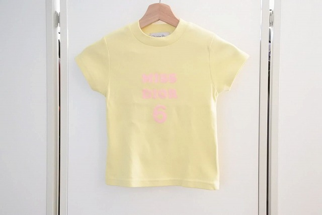 ◆[USED/中古]◆送料無料◆【中古】Christian Dior クリスチャンディオール ヴィンテージ キッズ Tシャツ プリント 6A/8A 中古 17576【中古】