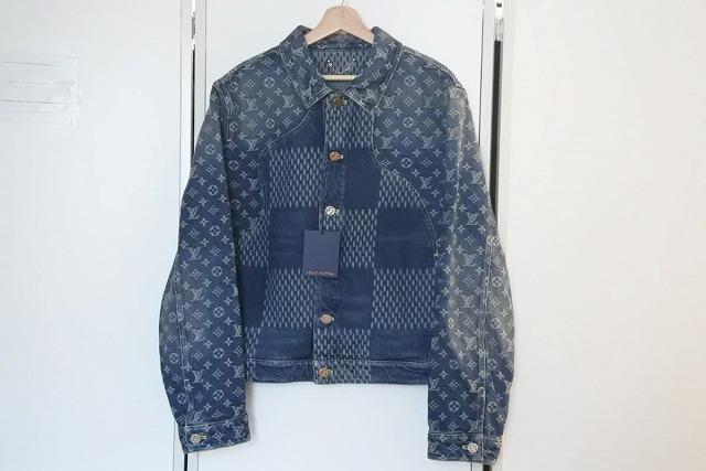 USED 中古 送料無料 未使用 予約 Louis Vuitton ルイヴィトン 50 受注生産品 jacket denim モノグラムジャイアント nigo デニムジャケット ダミエ