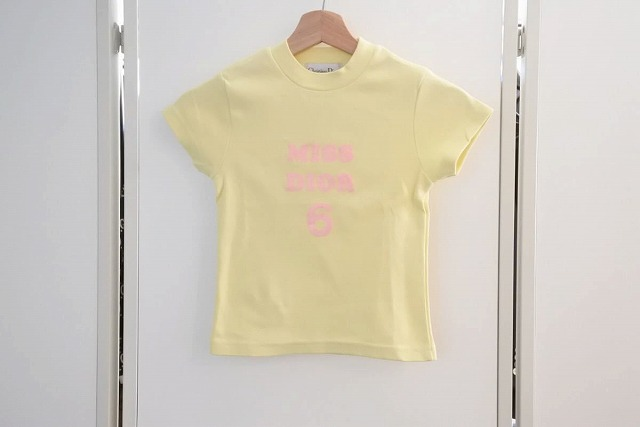 ◆[USED/中古]◆送料無料◆【中古】Christian Dior クリスチャンディオール ヴィンテージ キッズ Tシャツ プリント 6A/8A 中古 17575【中古】