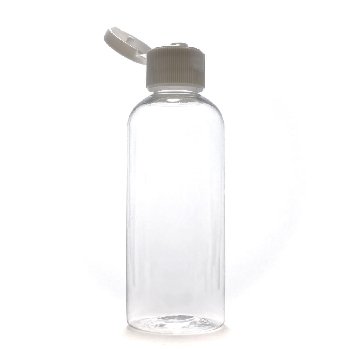 片手で開閉できるヒンジキャップ サービス プラスチック容器 ヒンジキャプ:ホワイト 100mL 卓出