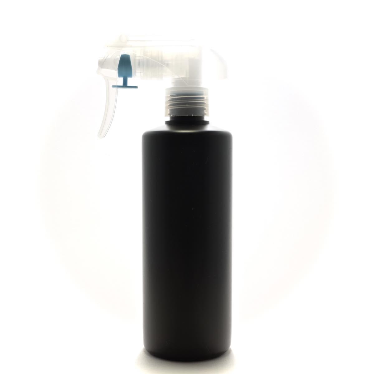 トリガースプレー 300mL 遮光黒 ストレートボトル【蓄圧式トリガースプレー】【380個入り/ロット 送料無料】