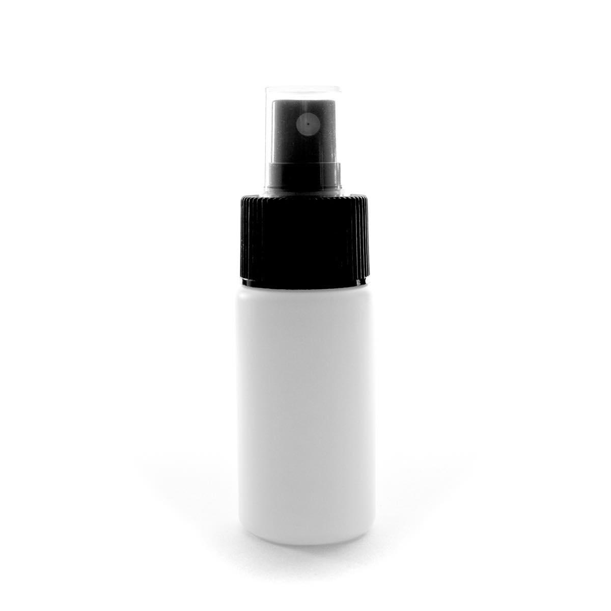 スプレーボトル 30mL PE ホワイト ストレートボトル【ブラックフィンガースプレー】【300個/ロット 送料無料】