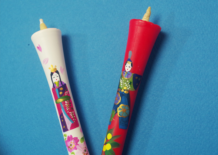 Picture candles 6 No. ( hand-painted ) 2 books on 10P30Nov14