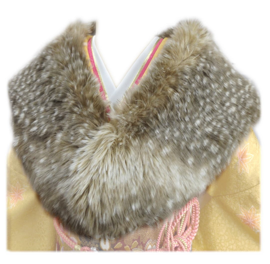 バンビ茶 卒業式 フェイクファー 成人式 はかま 着物 袴 振袖 ショール 日本製 洋装
