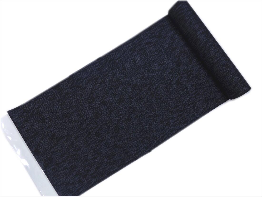 粋なメンズ男物男性綿麻浴衣(ゆかた)反物(未仕立て)しじら織濃紺色