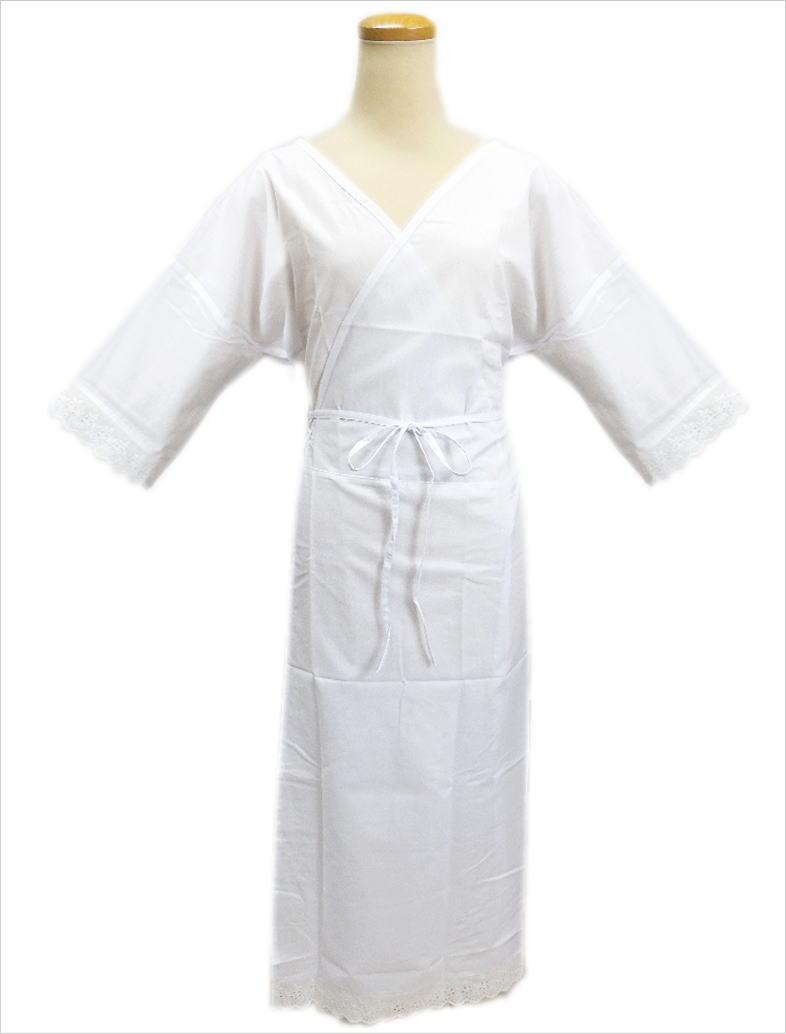 肌着と裾除けがひとつになったワンピースタイプの肌着 腹部の重なりがなく スッキリと着物向きのシルエットを作ります 肌着 ワンピース レース スリップ S M L 贈り物 LL 振袖 和装 マート レディース 白色 着物 下着 小さい 卒業式 成人式 女性用 大きいサイズ