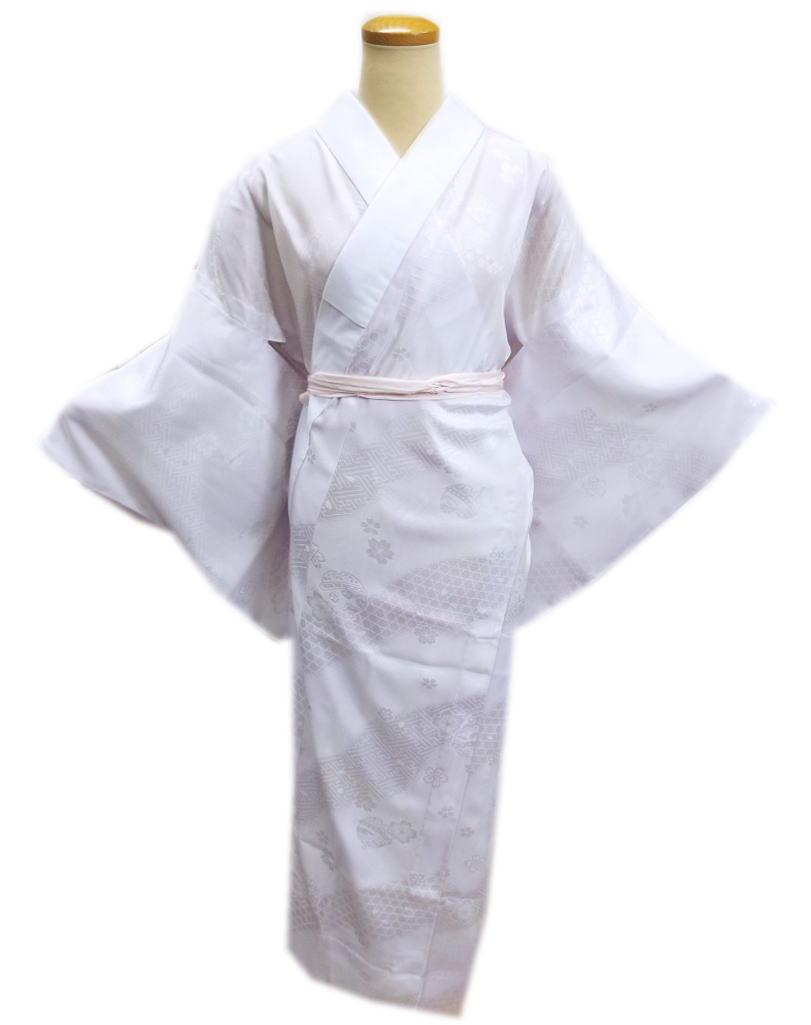 お仕立上がり正絹長襦袢(長地袢)淡紫色S・M・L・LL 日本製 和装着物下着 着心地抜群 女性用レディース