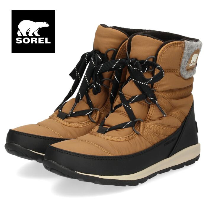 ソレル SOREL NL3432 286 レディース ブーツ ウィットニーショートレース ブラウン 防水性 保温 軽量 ショートブーツ スノーブーツ セール