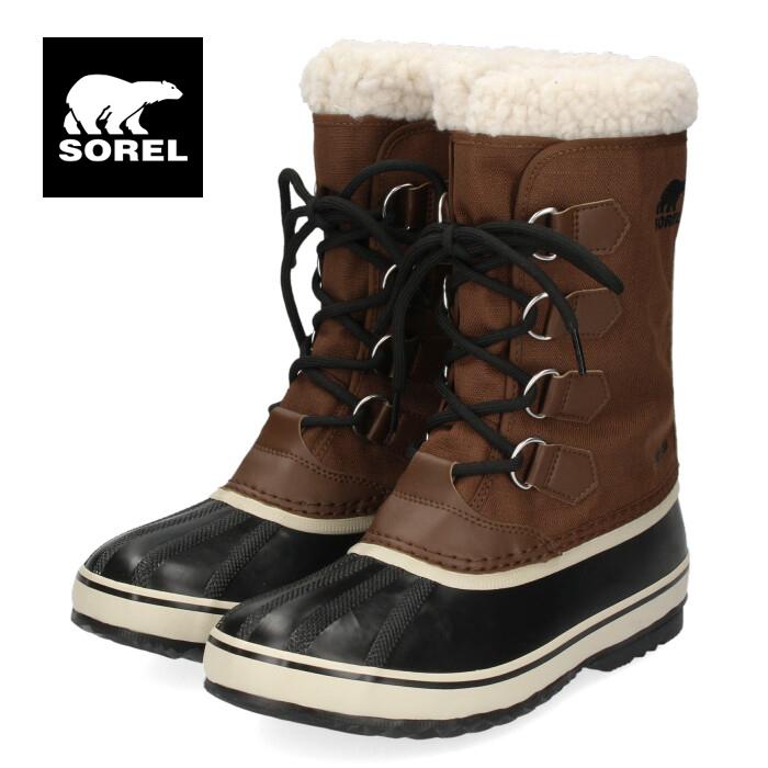 ソレル SOREL NM3487 256 メンズ ブーツ 1964 パックナイロン ブラウン スノーブーツ ウインターブーツ 防水 保温 耐寒 グリップ力 軽量