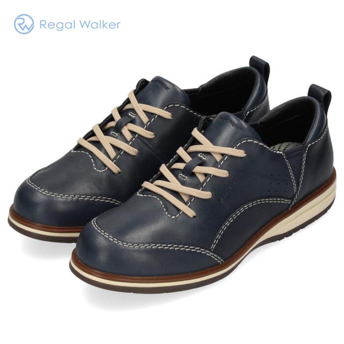 REGAL リーガルウォーカー 靴 メンズ 322W BC GORE-TEX ゴアテックス 防水 本革 紺 ウォーキングシューズ スニーカー ネイビー