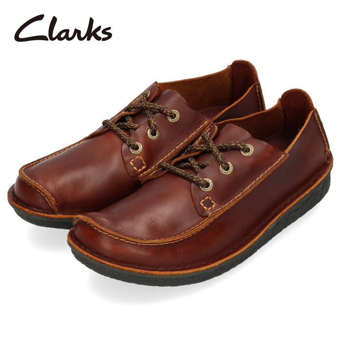 Clarks クラークス カジュアルシューズ メンズ 220J Trek Veldt トレックヴェルト レースアップ ラウンドトゥ 本革 タン 茶色 ブラウン