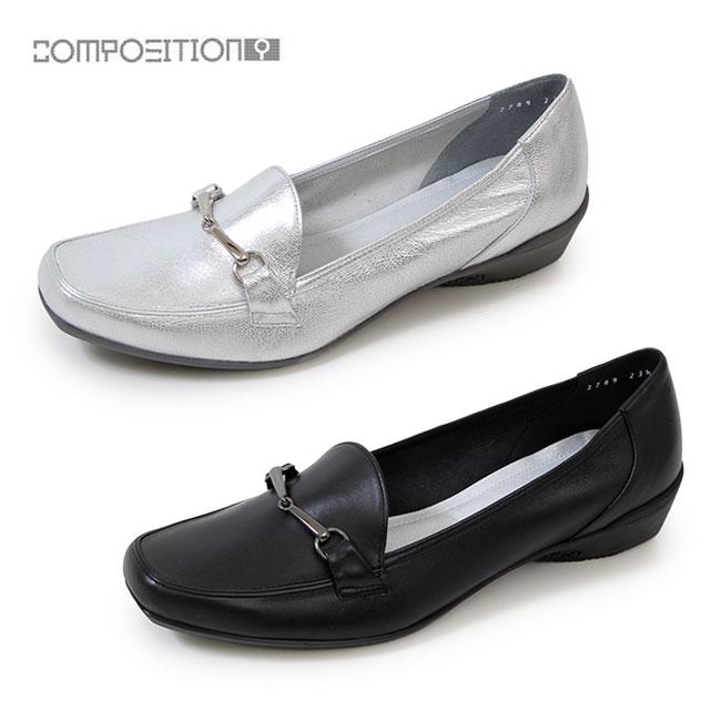 コンポジションナイン COMPOSITION9 靴 ローファー レディース 2789 パンプス ローヒール ビット付き コンフォートシューズ メタルパーツ コンポジション9