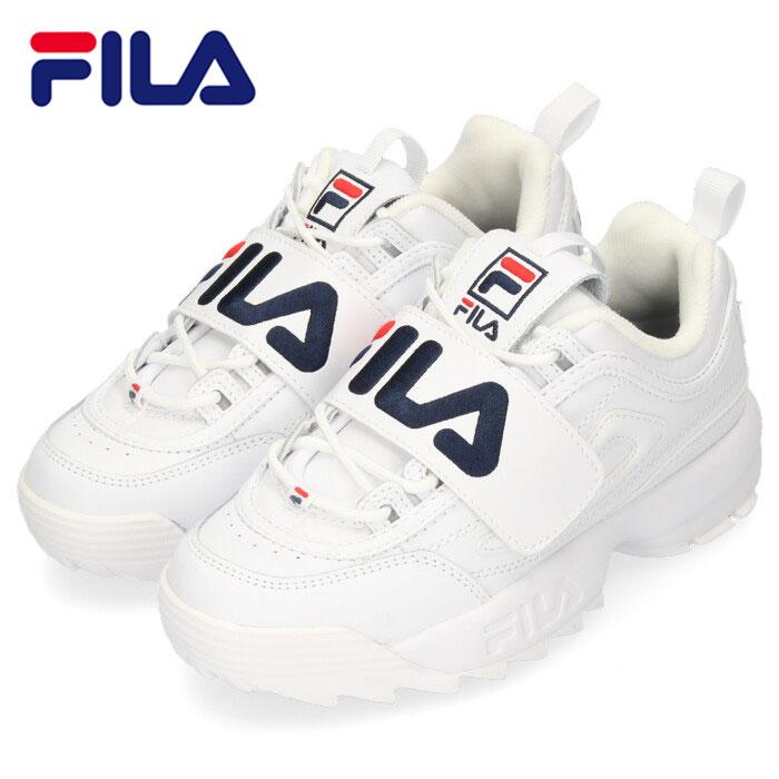 フィラ FILA スニーカー ディスラプター2 アップリケ レディース F0498 DISRUPTOR2 APPLIQUE ホワイト 厚底 ガールズ 白