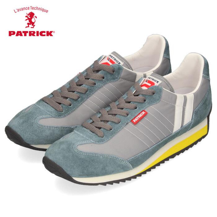 PATRICK パトリック スニーカー メンズ レディース 942004 MARATHON CANOE マラソン カヌー 日本製 ブルー グリーン