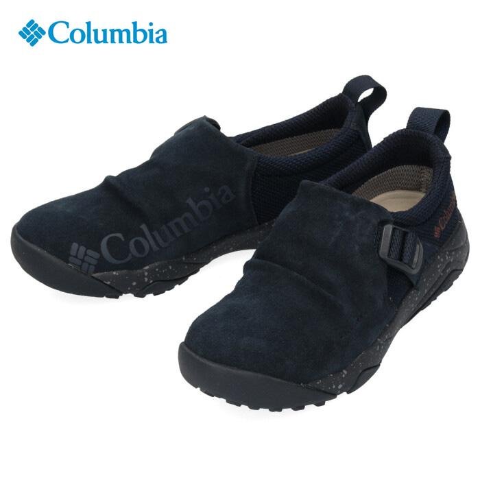 Columbia コロンビア キャンプシューズ メンズ レディース Hazy Lazy Moc Omni-Tech ヘイジーレイジーモック オムニテック YU0304 464 ネイビー