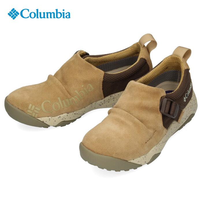 Columbia コロンビア キャンプシューズ メンズ レディース Hazy Lazy Moc Omni-Tech YU0304 241 ヘイジーレイジーモック オムニテック ベージュ