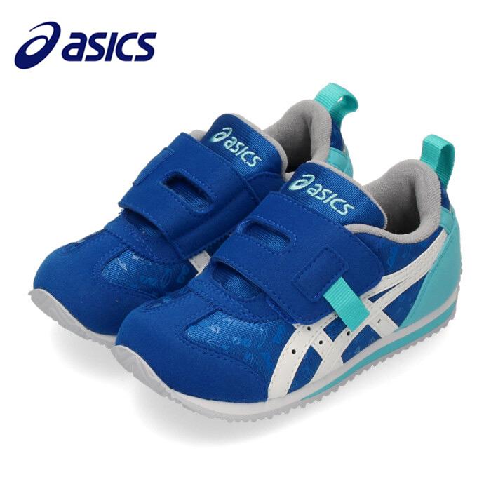 asics アシックス アイダホ SPORTS PACK MINI 1144A023-400 00023-56 スクスク キッズ シューズ プリント柄 ブルー