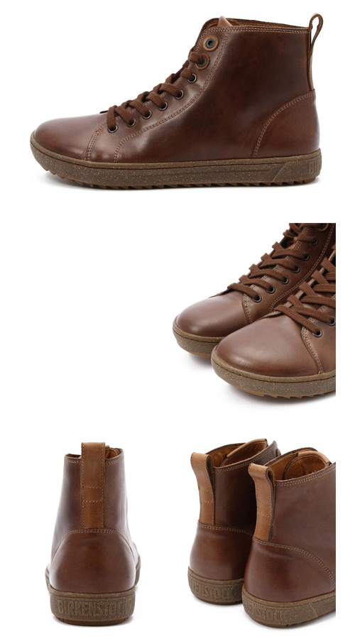 birukenshutokku BIRKENSTOCK巴特利特BARTLETT MEN 1000982男子的運動鞋高cut棕色
