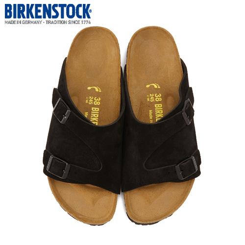 【エントリーでP5倍 4/9 20:00-4/16 1:59】 ビルケンシュトック BIRKENSTOCK チューリッヒ ブラック 黒 スエード ZURICH BS 050493 メンズ サンダル 靴 本革 幅狭 ナロー