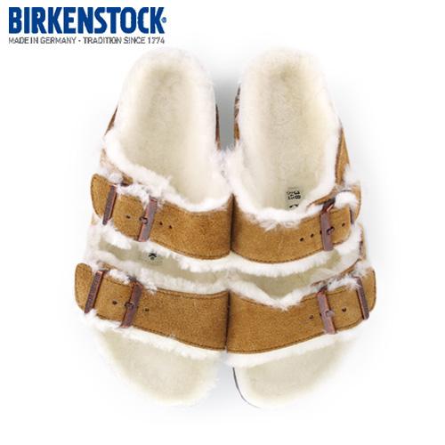 ビルケンシュトック BIRKENSTOCK アリゾナ ファー ボア ARIZONA Fell Fur 1001135 レディース サンダル 靴 ブラウン ミンク 本革