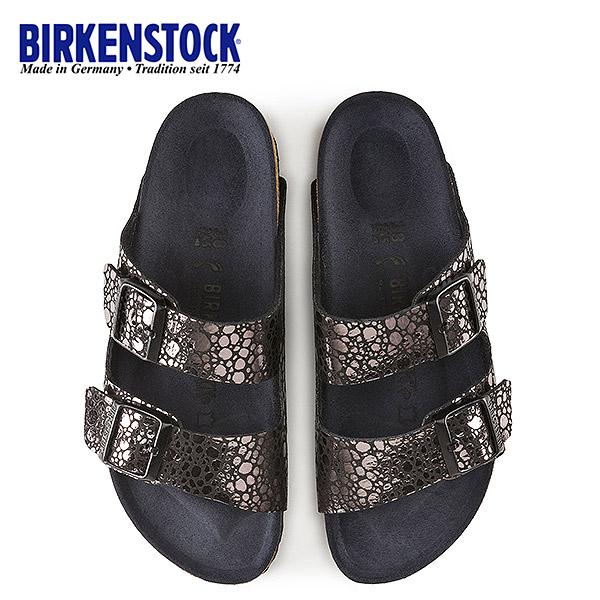 ビルケンシュトック BIRKENSTOCK アリゾナ Arizona BS レディース 1008872 幅狭 サンダル 靴 メタリックストーン ブラック 国内正規品
