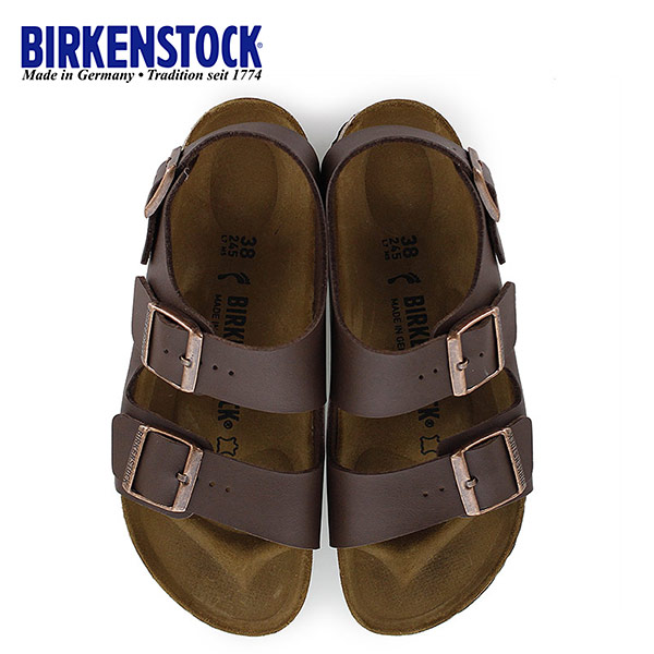 ビルケンシュトック BIRKENSTOCK ミラノ Milano 0034703 幅狭 レディース サンダル 靴 ダークブラウン バックベルト 国内正規品