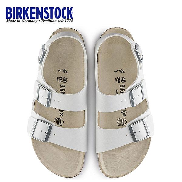 ビルケンシュトック BIRKENSTOCK ミラノ Milano 0034733 幅狭 レディース サンダル 靴 ホワイト バックベルト 国内正規品
