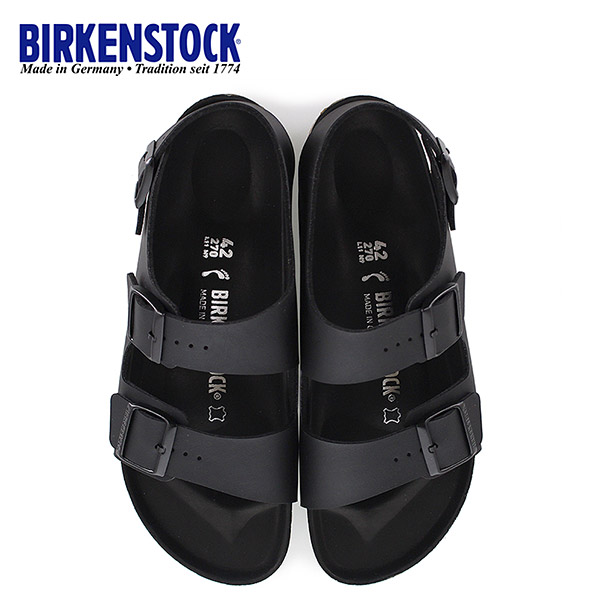 ビルケンシュトック BIRKENSTOCK ミラノ Milano BS HEX 1008075 幅狭 メンズ レディース サンダル 靴 ブラック バックベルト 国内正規品