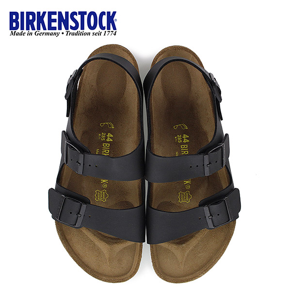 ビルケンシュトック BIRKENSTOCK ミラノ Milano 0034791 幅広 メンズ サンダル 靴 ブラック バックベルト 国内正規品