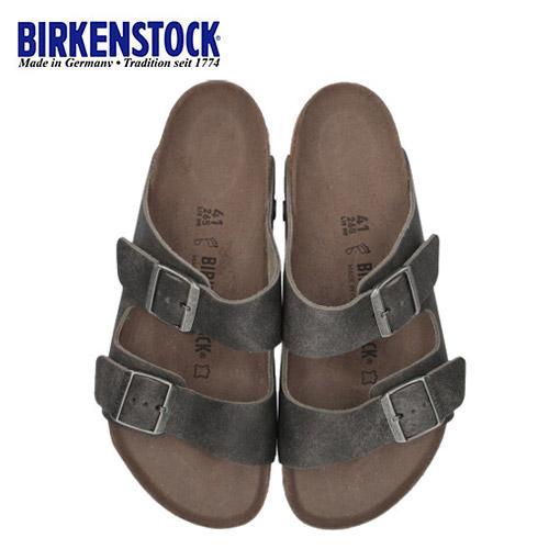 ビルケンシュトック BIRKENSTOCK アリゾナ Arizona Rivet Logo メンズ レディース 1013045 幅広 本革 サンダル グレー ブラック 国内正規品