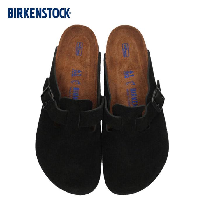 ビルケンシュトック BIRKENSTOCK ボストン レディース メンズ BOSTON BS 0660471 幅広 サンダル スエード ブラック 国内正規品