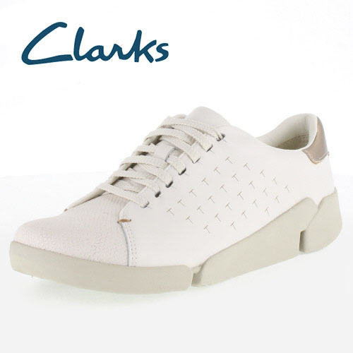 Clarks Clarks Tri Abby TRIA vie 913 White Leather White Leather casual shoe Womens