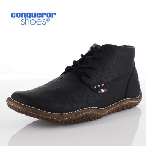 コンカラー シューズ クレスト メンズ スニーカー conqueror CREST 117 BLACK ブラック 靴
