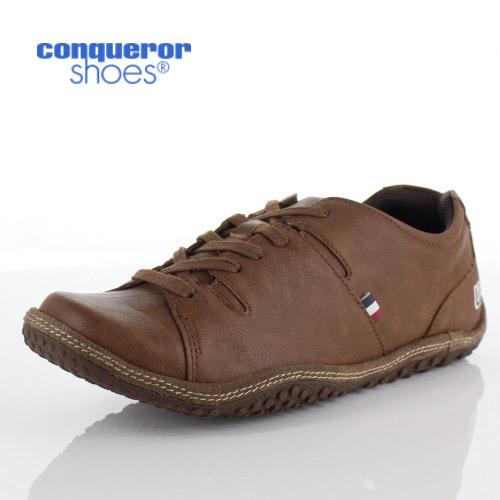 コンカラー シューズ モントレー メンズ スニーカー conqueror MONTEREY 125 BROWN ブラウン 外羽根 靴