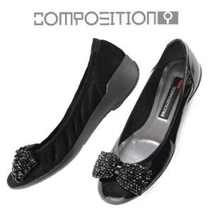 コンポジションナイン COMPOSITION9 靴 2263 コンフォートシューズ リボン バレエシューズ コンポジション9 レディース