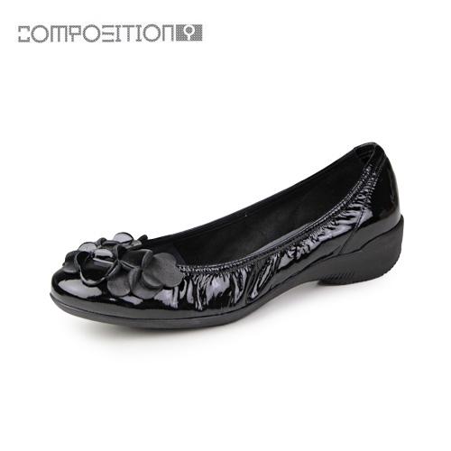 【エントリーでP5倍 4/9 20:00-4/16 1:59】 コンポジションナイン COMPOSITION9 靴 2364 コンフォートシューズ レディース パンプス バレエシューズ コンポジション9 ブラックエナメル