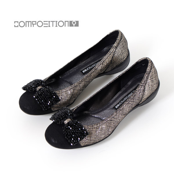 コンポジションナイン COMPOSITION9 靴 2660 コンフォートシューズ レディース パンプス バレエシューズ コンポジション9 ゴールド
