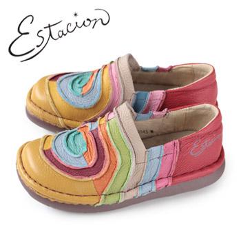 エスタシオン 靴 estacion TG043 (OR) 本革 厚底 スリッポン カジュアルシューズ コンフォートシューズ レディース