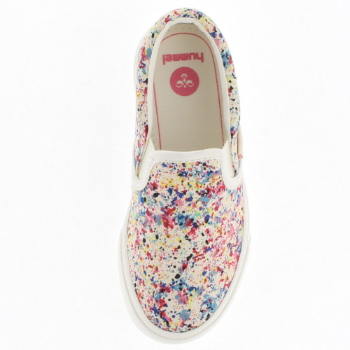 Hummel Hummel 花 JR 滑滑花初中 64-083-7709 藍色藍色兒童花卉列印 64083 運動鞋