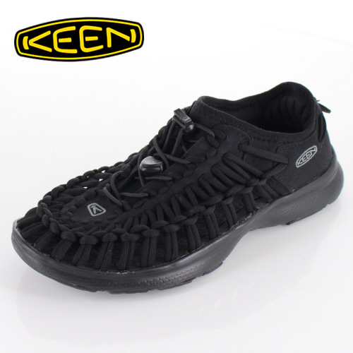 KEEN Damen Sneaker-Sandale Uneek 02 Black//Harvest Gold 1017055