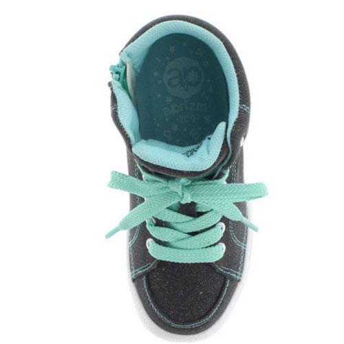 小aprizm apurizumu 6213 BLACK黑色高cut運動鞋小孩女人的孩子