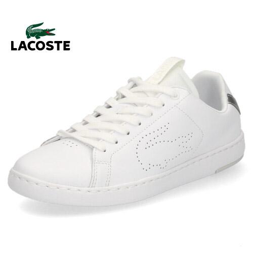 ラコステ レディース スニーカー LACOSTE CARNABY EVO LIGHT-WT 119 3 SFA0022-108 WHT/SLV ホワイト レザースニーカー 靴 軽量 セール